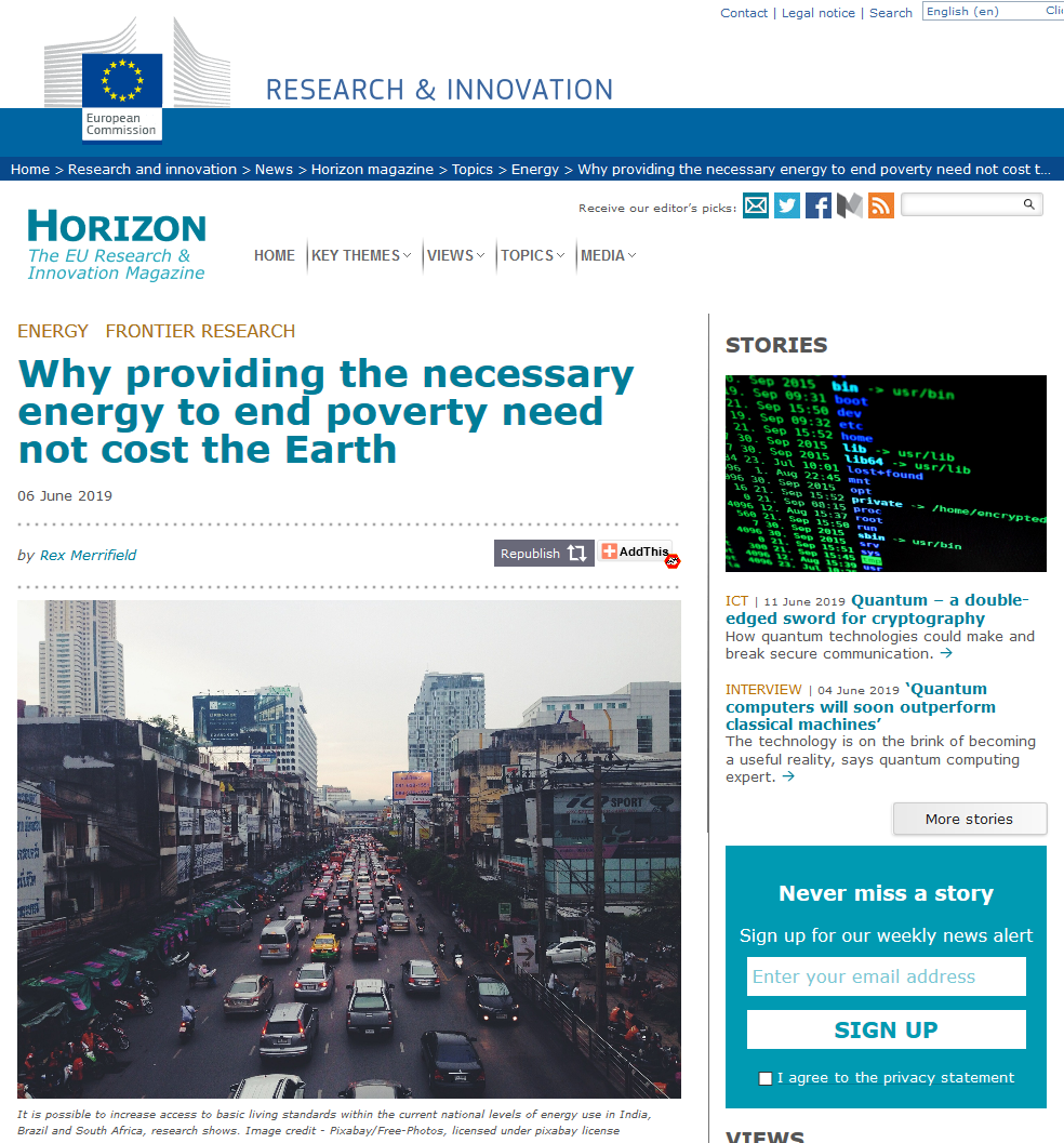 ASSIST at Horizon: the EU Research & Innovation magazine