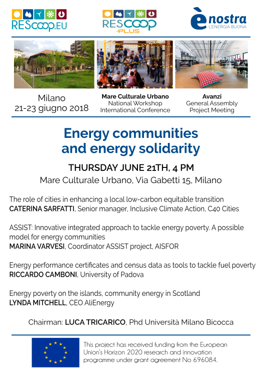 Presentazione di ASSIST all'incontro su comunità e solidarietà energetiche